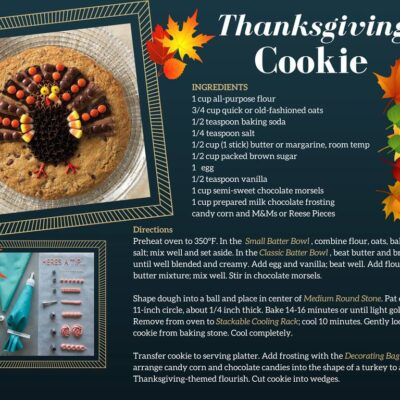 Thanksgiving Day Cookie recipe card
