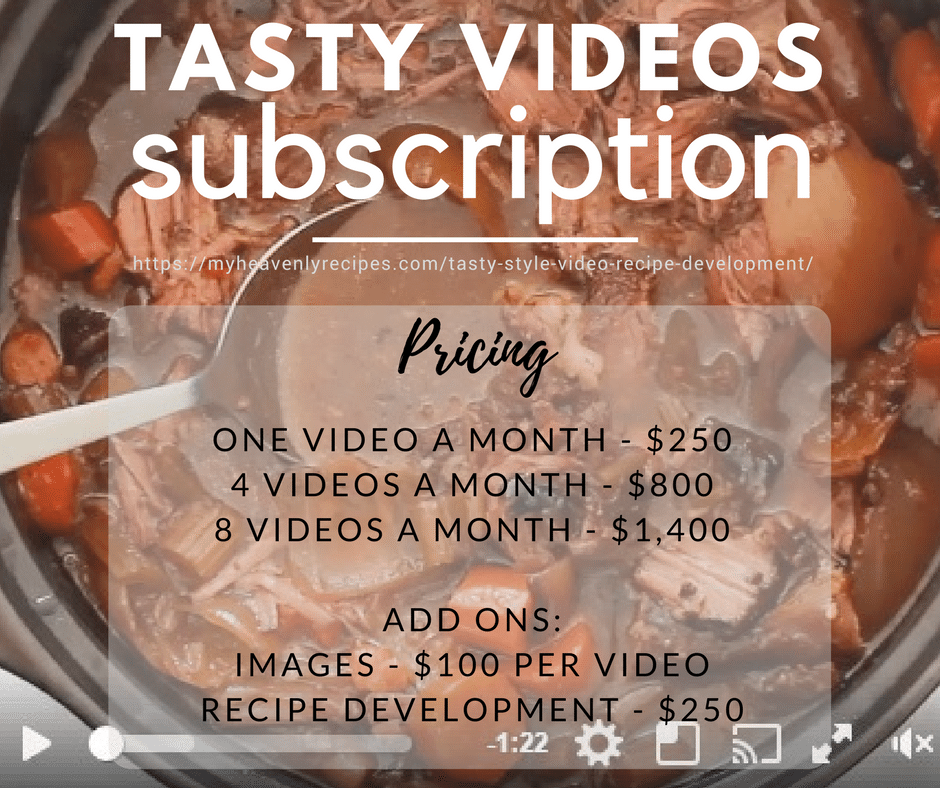 Tasty Style Video Creation Prices with Marci Loehner of MyHeavenlyRecipes.com