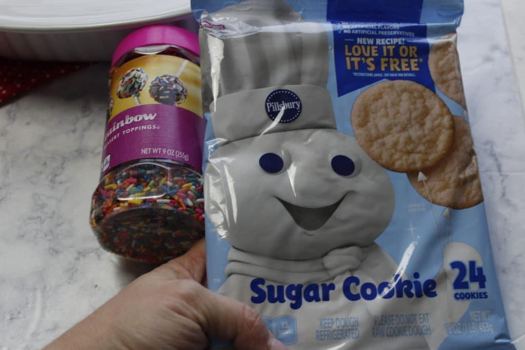 funfetti sugar cookie bars recipe ingredients