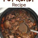 crock pot pot roast recipe image for pinterest