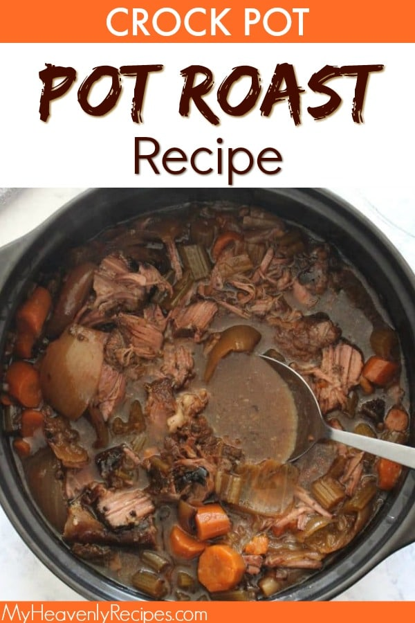 A melt in your mouth pot roast recipe that's made in the crock pot! This is my Grandmother's recipe, so you KNOW it is The Perfect Crock Pot Pot Roast Recipe. #crockpot #slowcooker #potroast #recipe #dinner