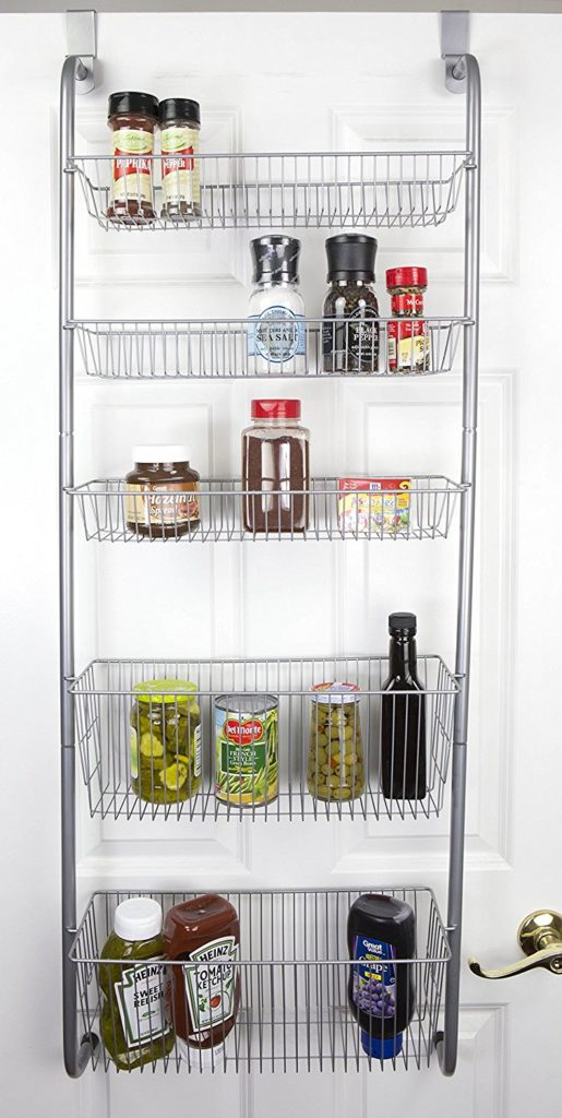 Over the Door Spice and Jar Rack Organizer