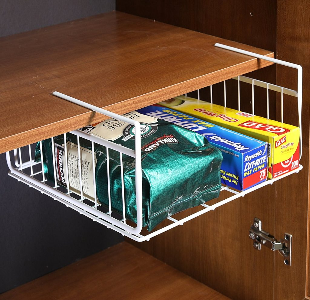 Under shelf basket for pantry