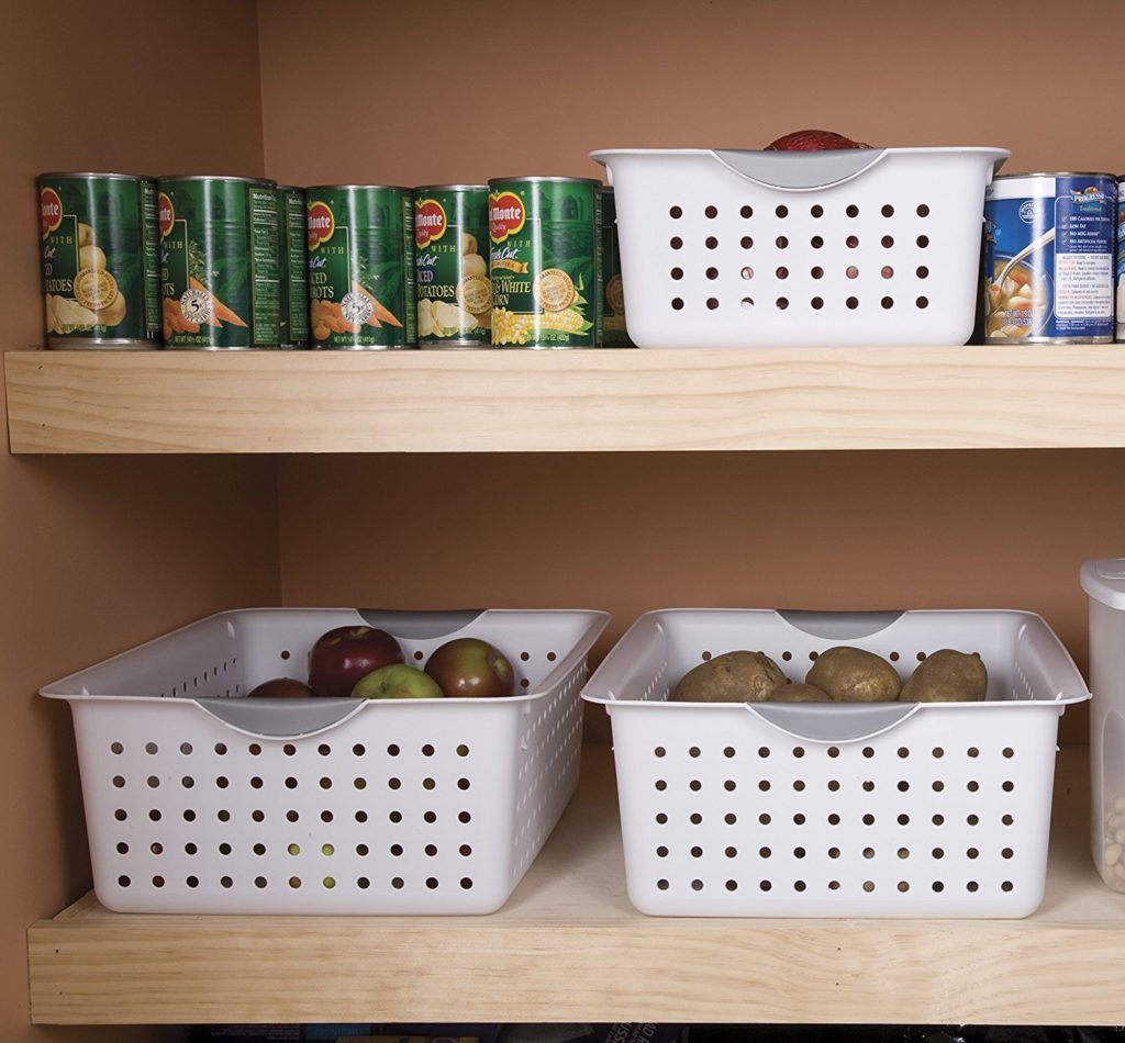 White Basket for Pantry Storage & Organizing