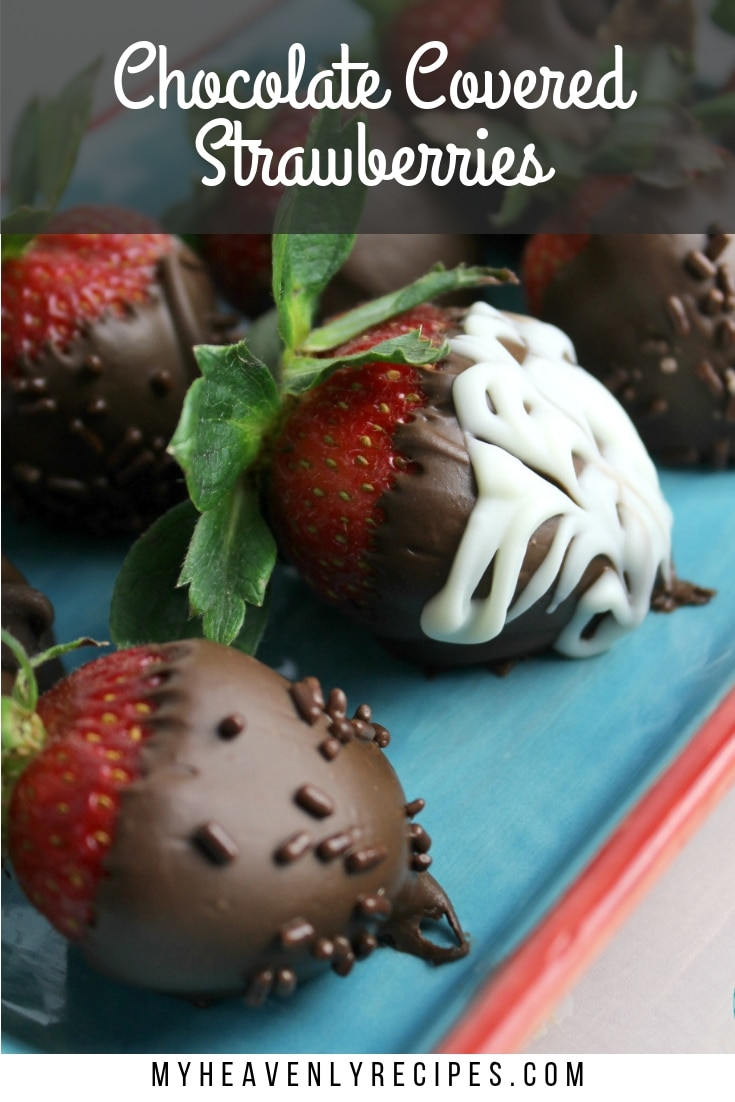 Chocolate Covered Strawberries - Learn how to make chocolate covered strawberries to share with the ones you love! Chocolate and strawberries are better together, and this simple video how-to shows you just how easy it is to make chocolate-dipped strawberries for Valentine's Day or any special occasion. #MyHeavenlyRecipes #Chocolate #Strawberries #Desserts #ValentinesDay