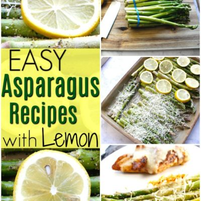 photo collage of 2 lemon asparagus recipes