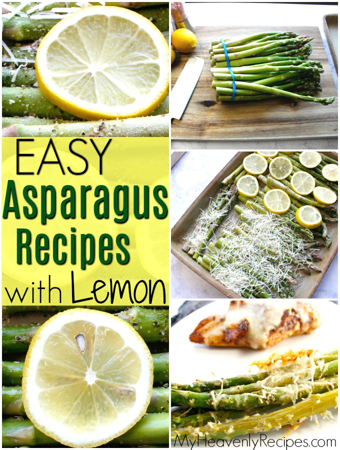 photo collage of lemon asparagus recipes