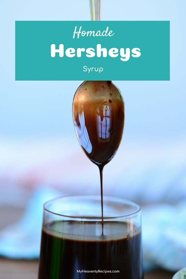 You won't believe how incredibly easy it is to create your very own Homemade Chocolate Syrup recipe. It's perfect for drizzling over ice cream, into chocolate milk and even into chocolate chip cookies! #chocolate #syrup #dessert @heavenlyrecipe