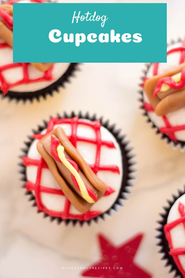 Your kids will love hanging out in the kitchen when you're making these Hot Dog Cupcakes! This is one of those recipes that is fun to get your family involved in on a weekend. #cupcakes #hotdogcupcakes #cupcaketoppers #partyfood #kidfood