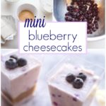 Mini No Bake Blueberry Cheesecake