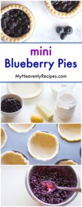 mini blueberry pie long pin with how to make