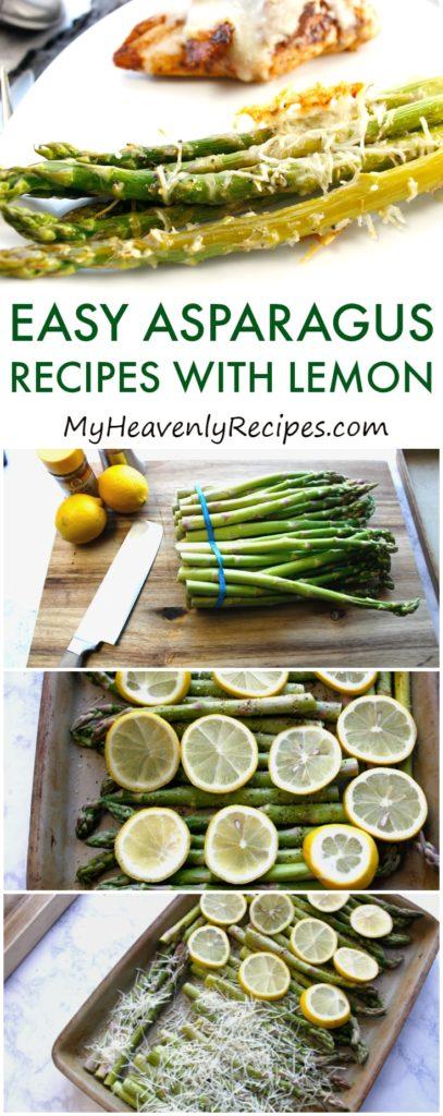 lemon asparagus in process image for pinterest