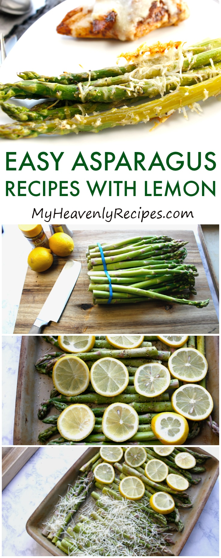 You will seriously LOVE these two easy lemon asparagus recipes! Even if you're not the biggest asparagus fan, you'll be a convert after trying these asparagus recipes with lemon. #asparagus #asparagusrecipes #easyasparagusrecipes