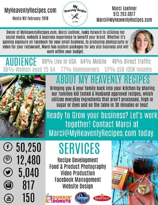 my heavenly recipes april 2018 media kit