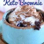 2 Minute Keto Microwave Brownie + Video