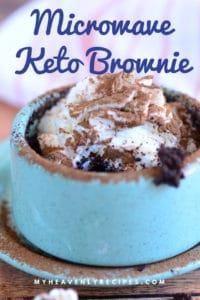 keto mug brownie featured image