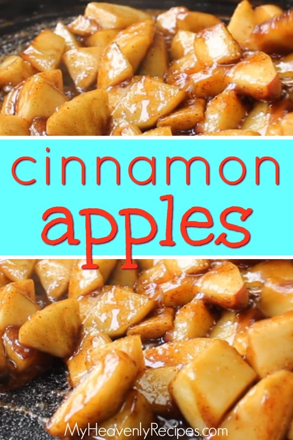 These Cinnamon Apples are a piece of heaven. They are sweet, melt in your mouth and oh so good hot over ham or cold for breakfast! The kids just can't get enough! #recipe #cinnamon #cinnamonapples #apples