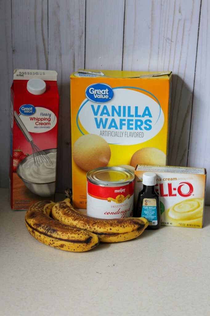 ingredients for banana ice cream recipe