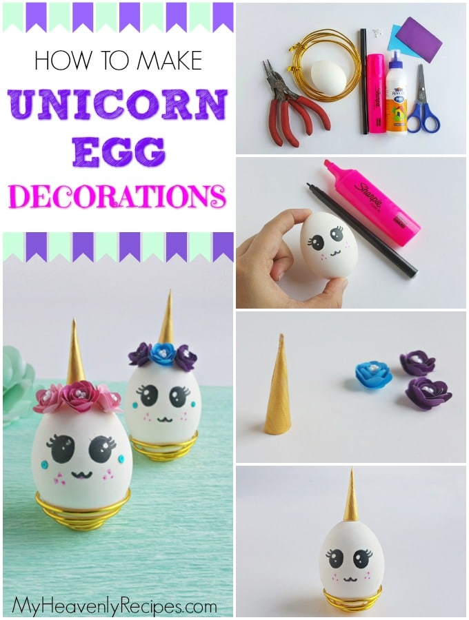 unicorn egg decoration step by step images