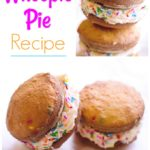 collage of whoopie pie recipe pies with sprinkles on the side