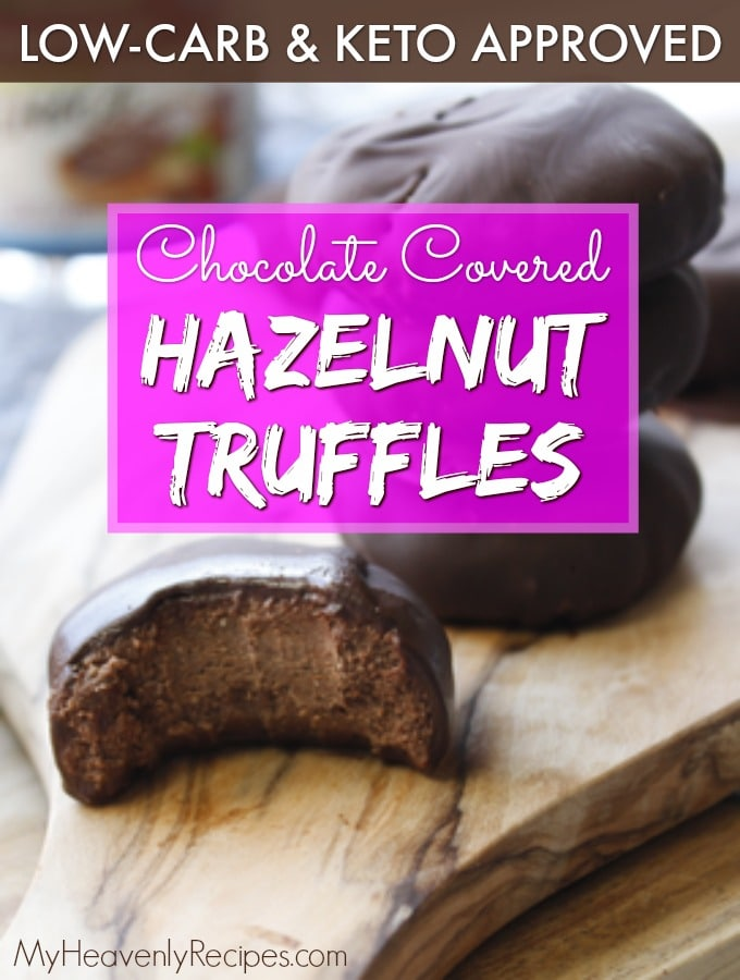 closeup of hazelnut truffles on a cutting board