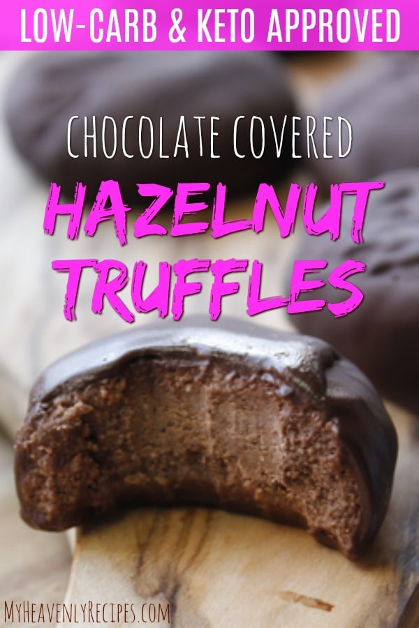 YUM! You are going to love these incredible Best Ever Keto Chocolate Covered Hazelnut Truffles! This keto dessert or keto snack tastes amazing and will stop all your chocolate cravings in their tracks. Keto diet friendly! These hazelnut truffles are the best keto recipe ever. #keto #ketogenic #ketorecipes #hazelnuttruffles