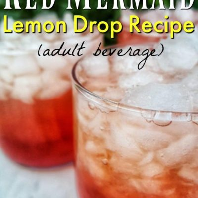 lemon drop recipe in glasses in front of foliage
