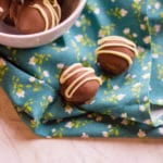 peanut butter truffle white white chocolate drizzled