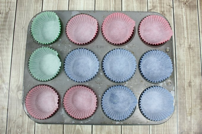 ice cream cone cupcakes muffin liners ready to be filled