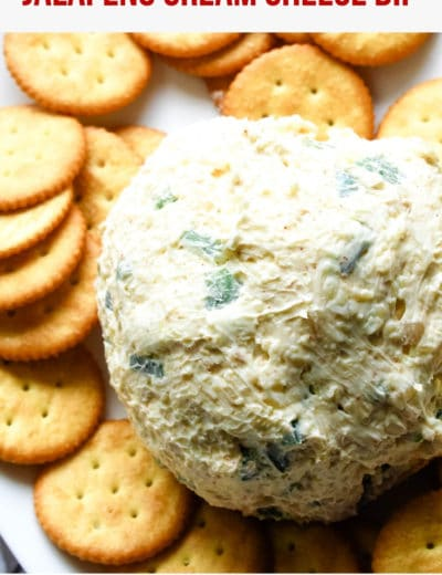 jalapeno cream cheese dip with crackers