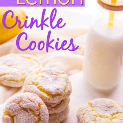 featured image for lemon crinkle cookies