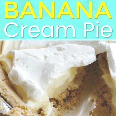 banana cream pie in aluminum tin