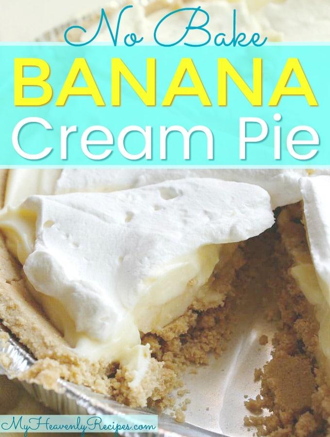 No Bake Banana Cream Pie + Video - My Heavenly Recipes