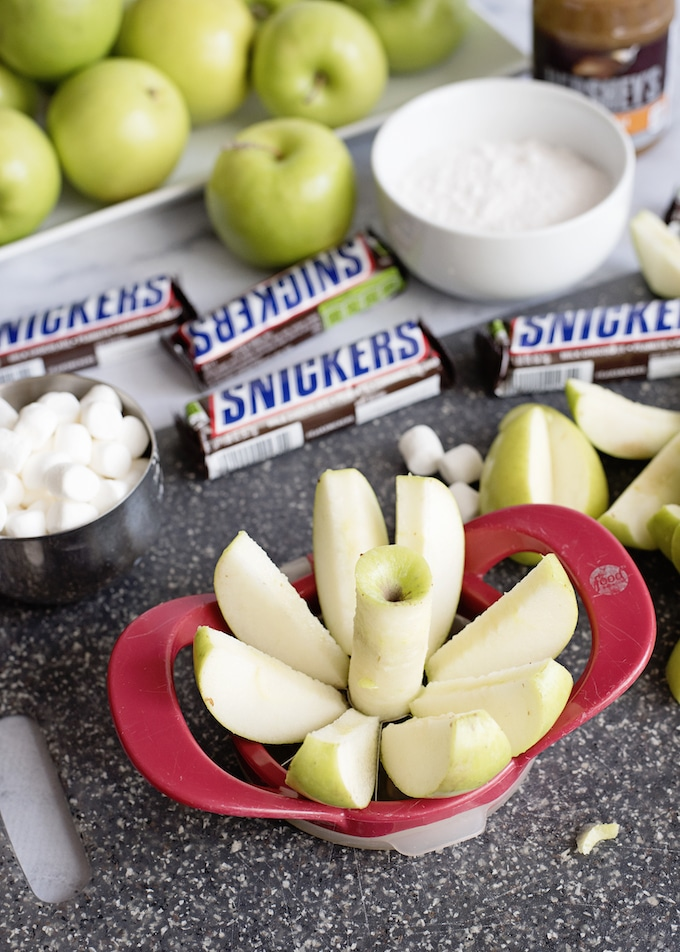 Caramel Apple Snickers Salad takes salads into a whole new level.