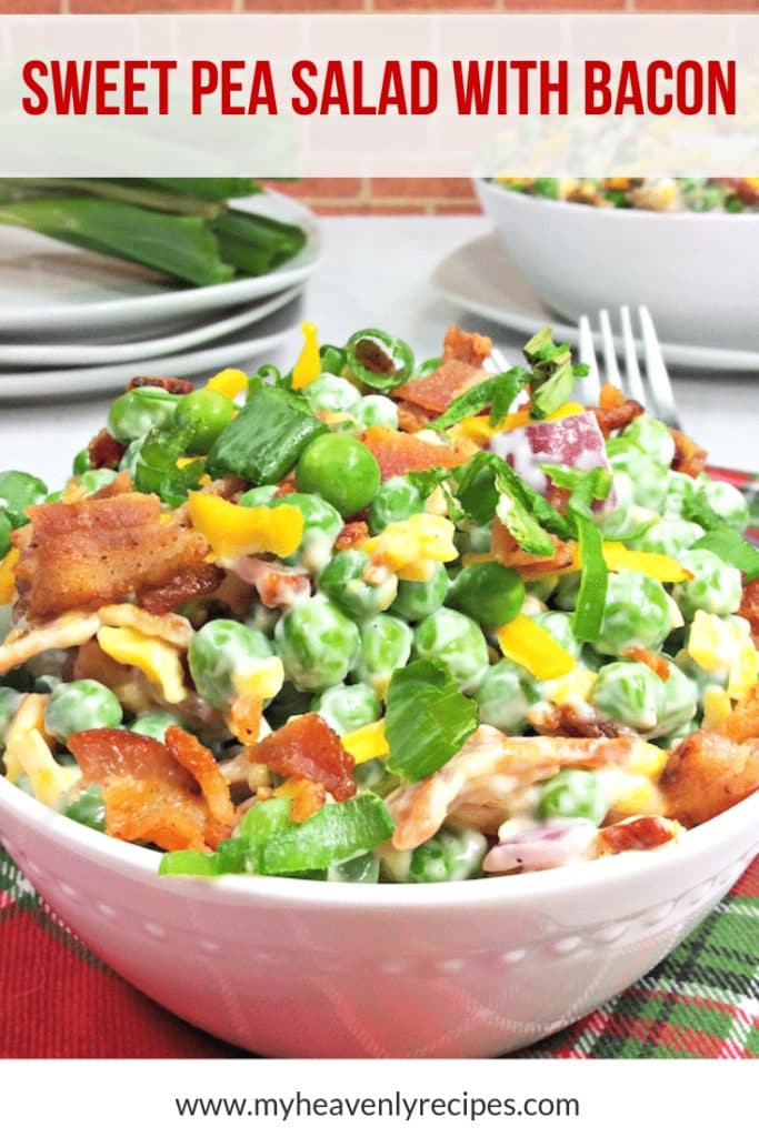 sweet pea salad with bacon featured image