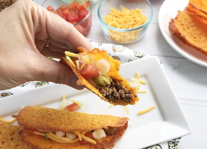 These keto cheese taco shells will be a sure win with the family!