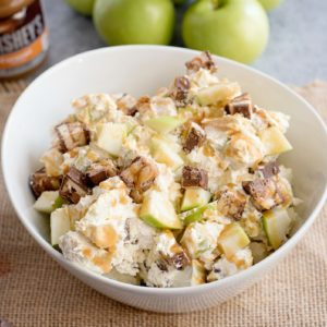 Caramel Apple Snickers Salad