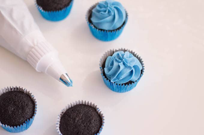 Frost each cupcake with buttercream.