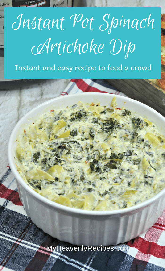 Have delicious Instant Pot Spinach Artichoke Dip in just 10 minutes!