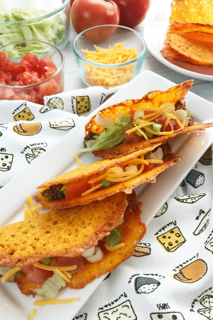 Tacos have just gotten yummier when you make the shells out of cheese! Try out these Low-Carb Cheese Taco Shells! It's easy to make and very healthy too!