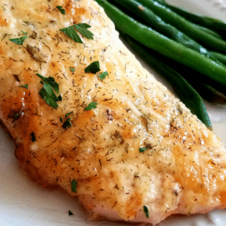 Not only will this parmesan and herb crusted salmon impress your family, but your friends too! This dish is also great to cook up when you're having friends over! They'll look forward to it with every visit.