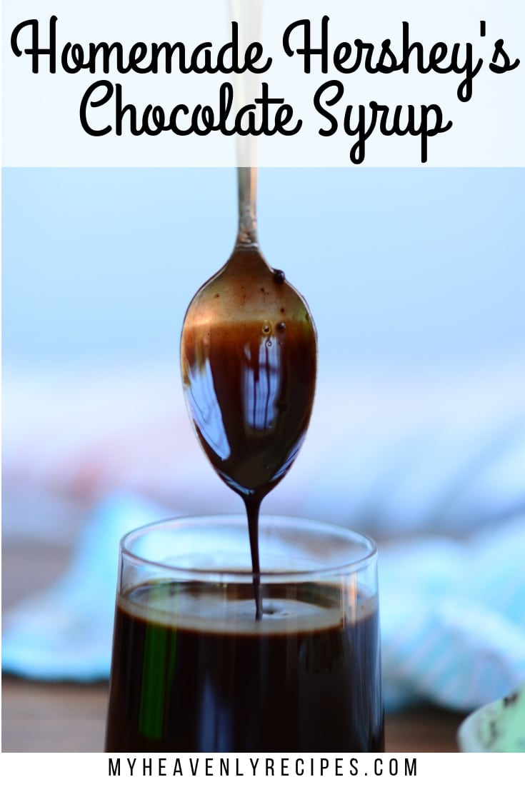 Homemade Chocolate Syrup - You won't believe how incredibly easy it is to create your very own Homemade Chocolate Syrup recipe. It's perfect for drizzling over ice cream, into chocolate milk and even into chocolate chip cookies! #MyHeavenlyRecipes #Chocolate #Syrup #Dessert