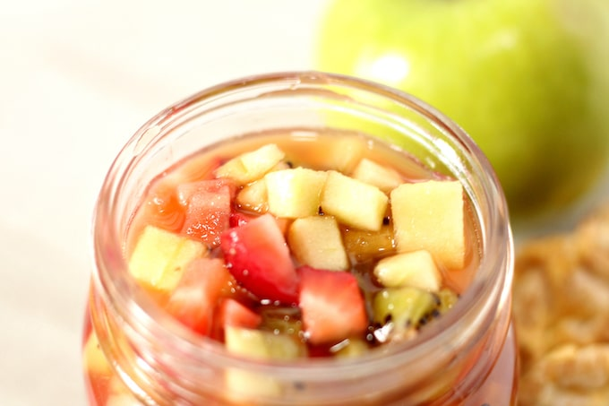 This apple berry fruit salsa is easy to make.
