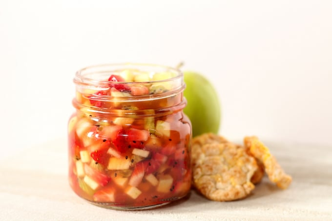 Serve this apple berry fruit salsa with chips for a healthier appetizer.