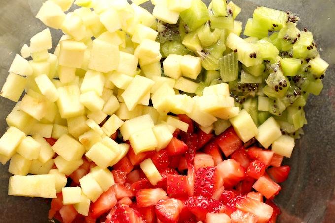 This apple berry fruit salsa screams summer.