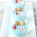 Beachy White Chocolate Pudding Cups