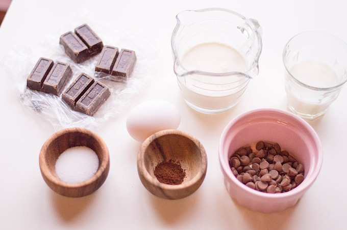 Ingredients for Mini Chocolate Tarts