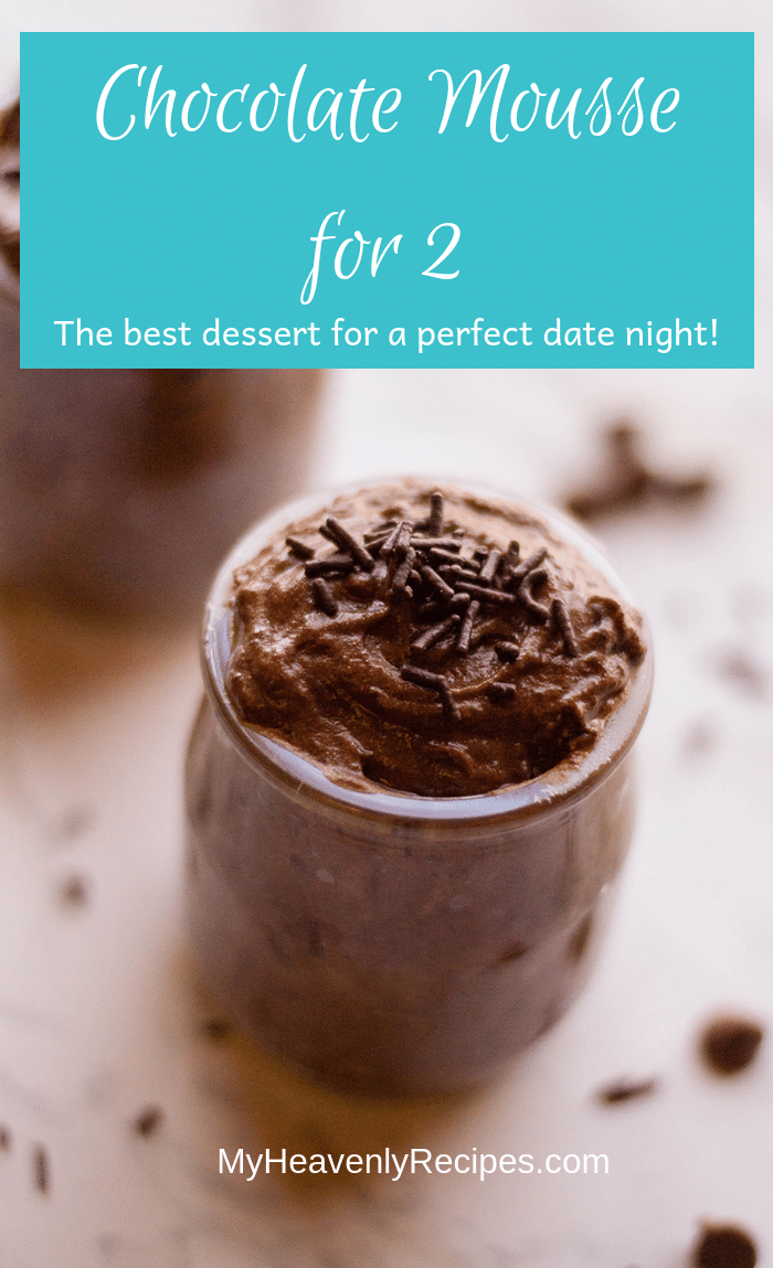 Planning a romantic dinner at home for you and your significant other? Sweeten the deal with this recipe for Chocolate Mousse for 2!