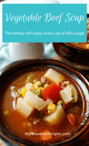This Vegetable Beef Soup recipe is easy, quick and affordable.