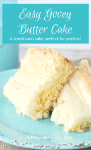 Liven up your parties with this Easy Gooey Butter Cake! Your family and guests will be coming back for more ooey gooey goodness.